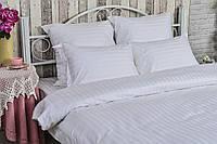 Комплект белого постельного белья сатин