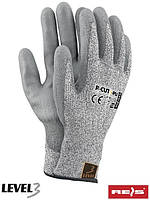 Защитные перчатки изготовлены из нейлона R-CUT3-PU