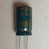 Конденсатор электролитический 680uF 25V 10X16 LOW ESR Sanyo