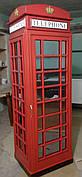 """Шкаф в прихожую в британском стиле """"Лондонская телефоннная будка"""""""