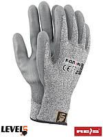 Защитные перчатки изготовлены из нейлона R-CUT5-PU