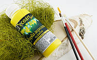 Акриловая художественная краска ЭкоАрт 100 мл Лимонный(товар при заказе от 500грн)