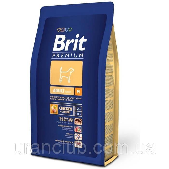 BRIT Premium «Adult M»3 кг.Корм для взрослых собак средних пород .