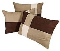Большая подушка для дивана KLAT, 50х70 см Коричневая