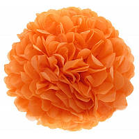 Помпон тишью оранжевый 35см