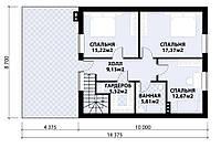 MS141. Проект стильного мансардного дома