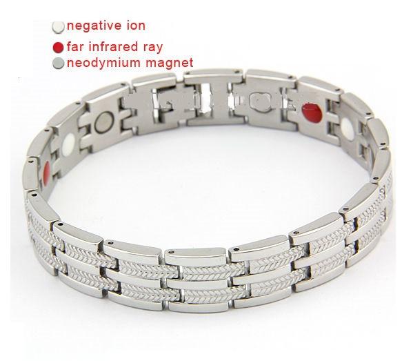Магнитный браслет 8149 серебро