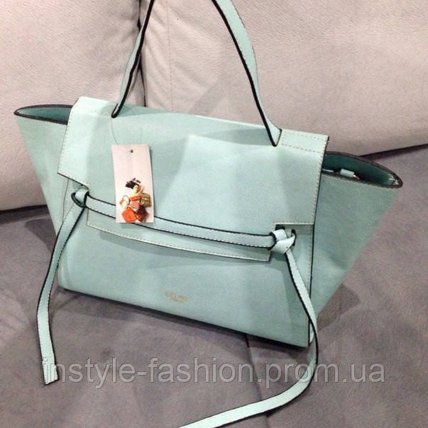 Сумка Celine бирюзовая красивая модная сумка