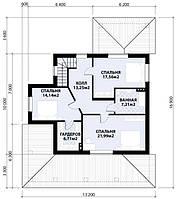 MS142. Красивый мансардный дом с колоннами