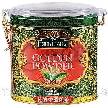 Чай «ТяньШань» Golden Powder (Ганпаудер) , ж/б, листовой, 70 г.