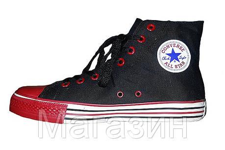 Мужские кеды Converse All Star High, высокие кеды конверс олл стар черные, фото 2