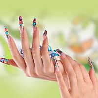 Наращивание ногтей акрилом «аквариумный эффект»