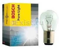 Лампа (стоп-сигнала) 12V 21/4W P21/4W PURE LIGHT (пр-во Bosch)