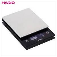 Весы для приготовления кофе Hario с таймером и металлической платформой, фото 1