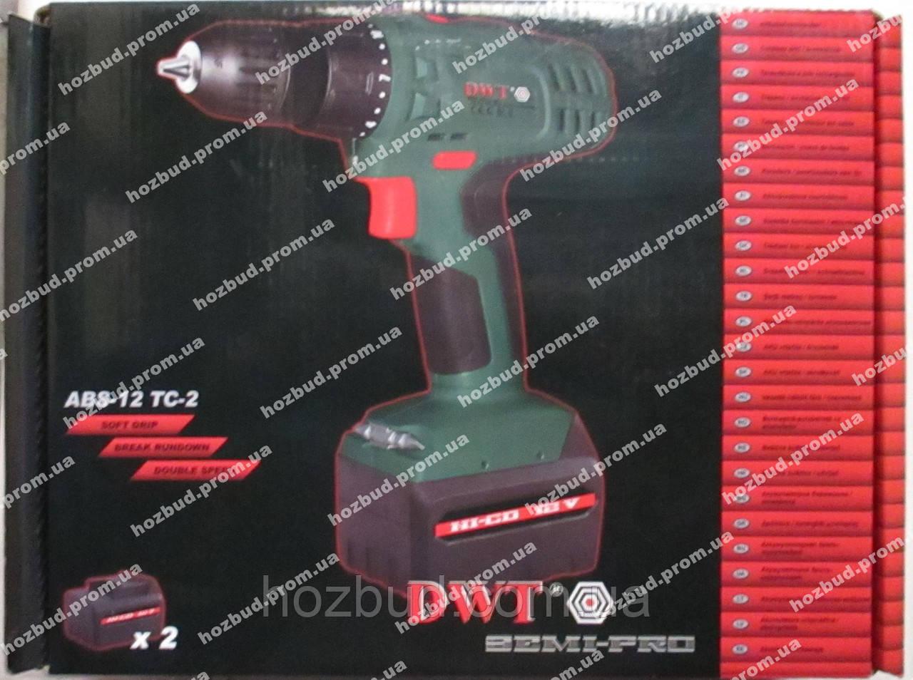 Шуруповерт акумуляторний DWT ABS-12 TC-2