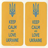 Виниловая наклейка для iPhone 4/4s Keep Calm + заставка