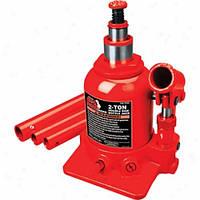 Домкрат бутылочный  низкопрофильный TORIN TF0202 двухштоковый 2т 150-370 мм.