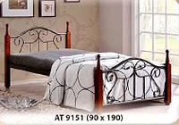 Односпальная кровать АТ 9151 Onder metal 90х190