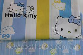 Детское постельное белье из сатина Хелло Китти (голубая)