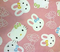 Детское постельное белье из сатина Китти и зайчики