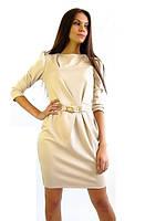 Платье с пряжкой Кира беж