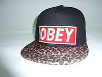 Кепка OBEY c леопардовым козырьком, фото 1