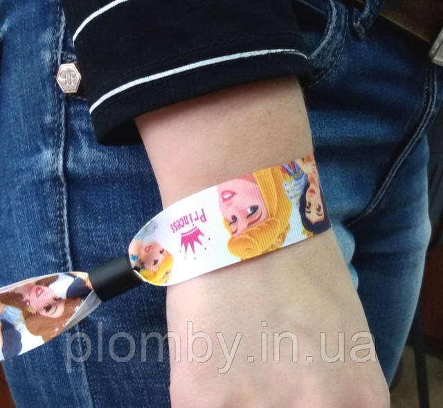 Тканые браслеты - яркий контроль посетителей от 4,50 грн./шт.