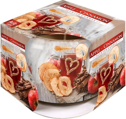 Яблоко-корица свеча к новому году