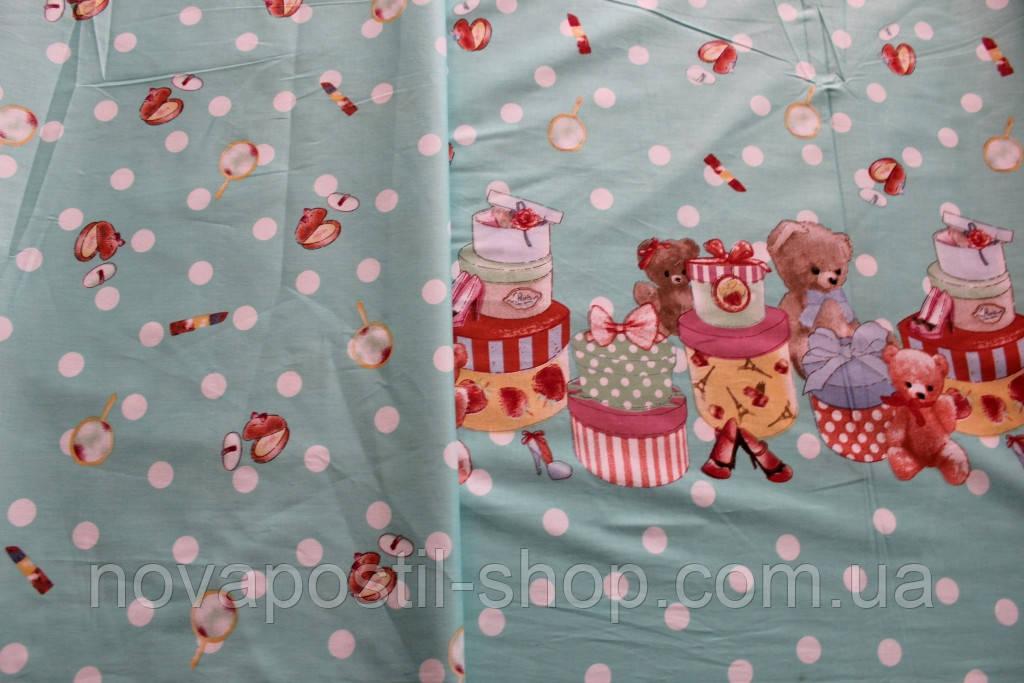 Детское постельное белье из сатина Мишки Малышки