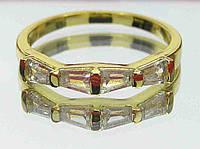 Элегантное позолоченное кольцо 18р.