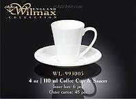 Чашка кофейная с блюдцем Wilmax  WL-993005 (140 мл).