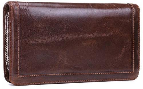 Стильный  клатч из натуральной кожи MS Collection Ms005B