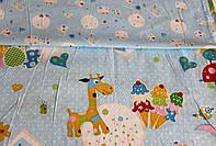 Детское постельное белье из сатина Жирафик