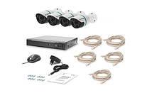 Комплект видеонаблюдения Tecsar IP 4OUT, фото 1