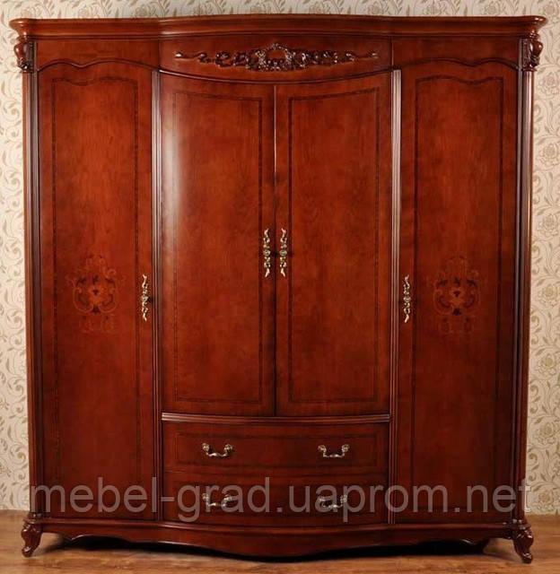 Шкаф 4 дверный Carpenter 230 / Карпентер 230 натуральное дерево