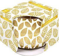 Свеча ароматическая в стекле золотые листья 1 шт