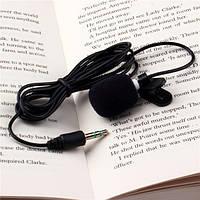 Микрофон петличка 3,5 мм с клипсой (петличный микрофон) для камеры фотоаппарата смартфон skype viber facebook