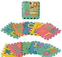 Детский коврик пазл буквы Алфавит