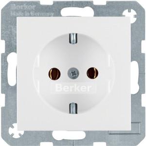 Berker S.1/B.3/B.7 - Розетка 2к+з, SCHUKO, полярная белизна