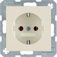 Berker S.1/B.3/B.7 - Розетка 2к+з, SCHUKO, белый