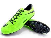 Футбольные бутсы Nike Hypervenom Phelon AG Neo Green/Black, фото 1