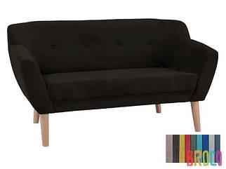 Мягкий диван Signal Bergen 2 темно-коричневый