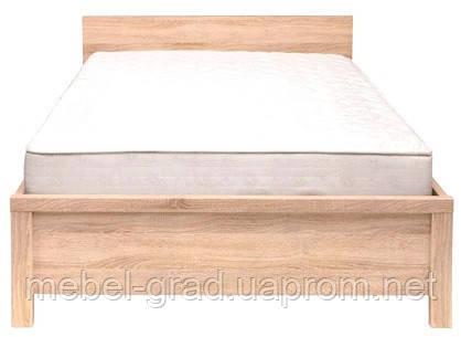 Ліжко односпальне LOZ 90 Каспіан / Kaspian BRW 90х200 дуб сонома