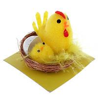 Пасхальная корзинка с цыплятами