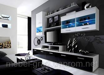 Гостиная Logo II Cama Meble белый / черно-белый глянец