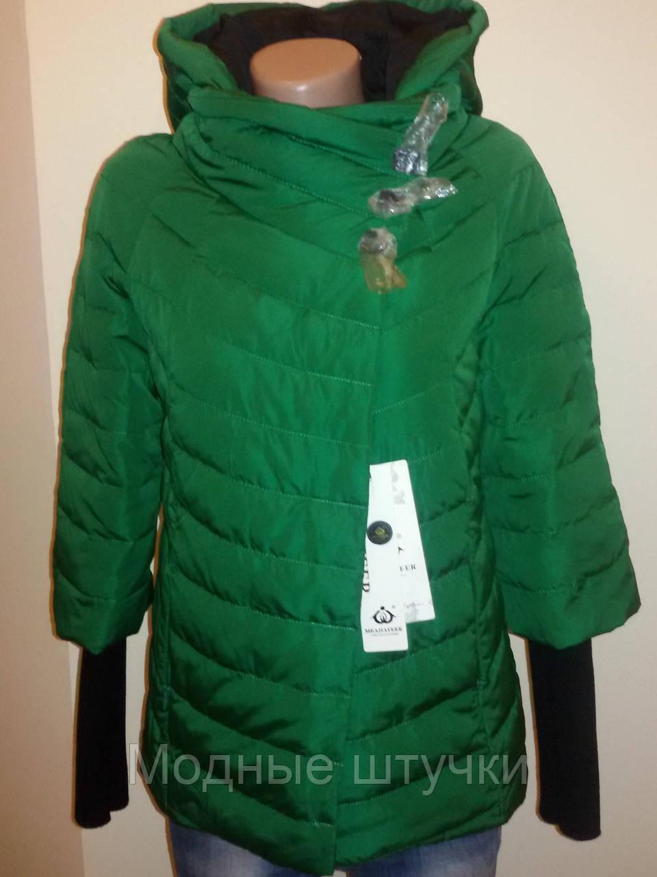 cc603e7d255 Куртка женская весна-осень зеленая 16-08 - Модные штучки в Николаеве