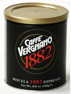 Кофе молотый Vergnano 1882 Espresso 250 г ж/б