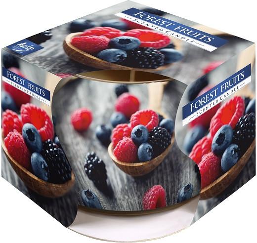 Ароматична свічка у склі Bispol Лісові ягоди 7 см (sn71s-08)