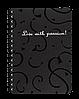 Блокнот А6 спіраль Red&Black 80 лист кл пласт обл BM.2589-701 (чорн)