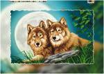 """Схема для вышивки бисером на подрамнике (холст) """"Пара волков"""", фото 2"""